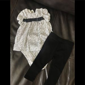 Carters Baby Girl polka-dot outfit - 3 months